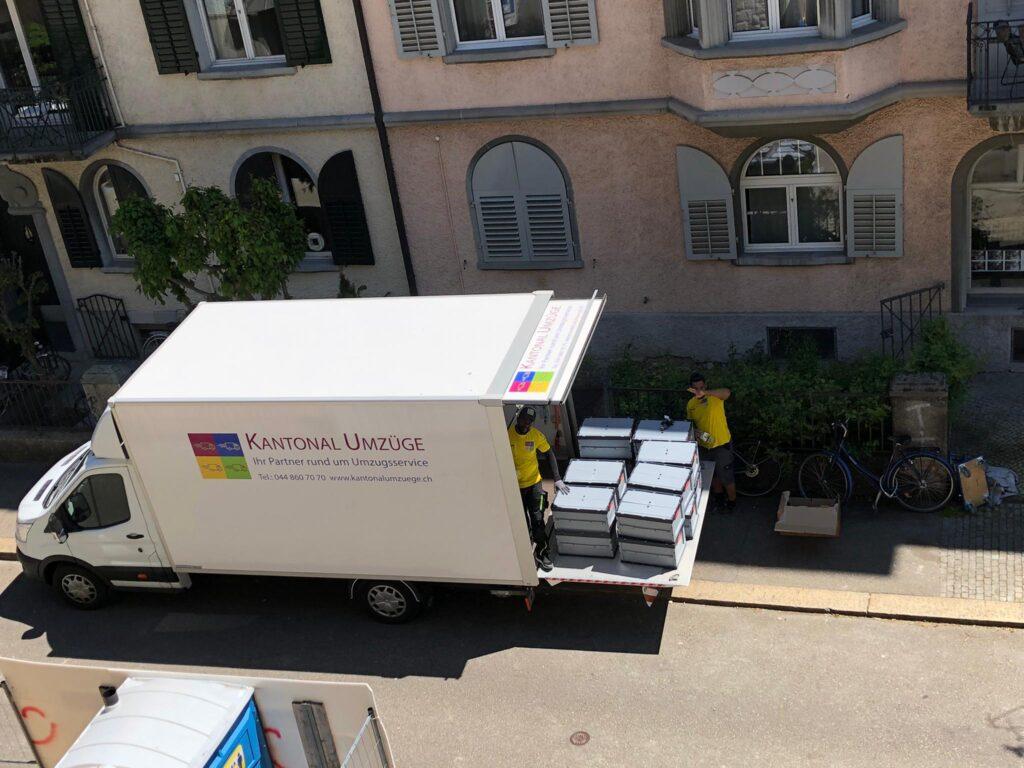 Zügeln Zürich - Umzug mit Umzugsfirma Kantonal Umzüge